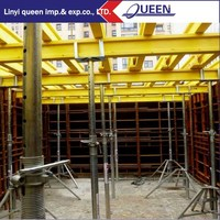 plastic formwork system, construction formwork for slab supported by shoring prop and beam