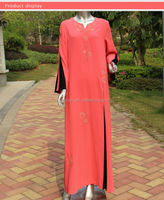 Elegent arab kaftan maxi dress,islamic solid color kaftans wholesale india