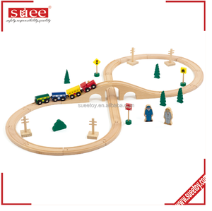 wooden train set Compatible with Thomas, Chuggington, Brio