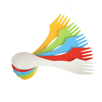 cheap & high quality plastic fork spoon knife in one