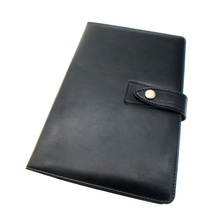 PU leather cover custom notebook with magnetic closure