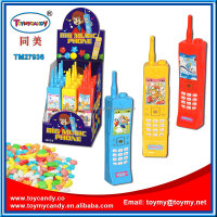 plastic big music phone toy candy for child confectionary educational toy