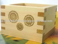 "Ohashiryoki Masu (a square wooden box) ""Sunflower"" (01024)"