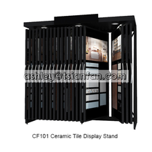 Large custom ceramic tile display rack in showroom/marble and granite display stand for showroom -CF101