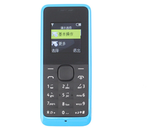Hot sale in unlocked for cell phone dual sim 1134 version whatsapp facebook GSM mobile phone for nokia 105