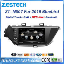 touch screen car dvd player for Nissan Bluebird 2016 LANNIA car dvd gps navigation radio BT TV rds usb/sd 3g