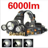 new T6 LED Bright Aluminium Alloy Rechargeable Bike Light Headlamp For Military,1*t6+2*cree q5 headlamps for huntingisting