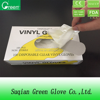 hospital supplies vinyl gloves