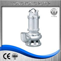 suction dirty water 3 phase submersible 2 hp sewage grinder pump