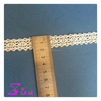Fashion embroidery 2CM cotton lace trim for garments or dressing