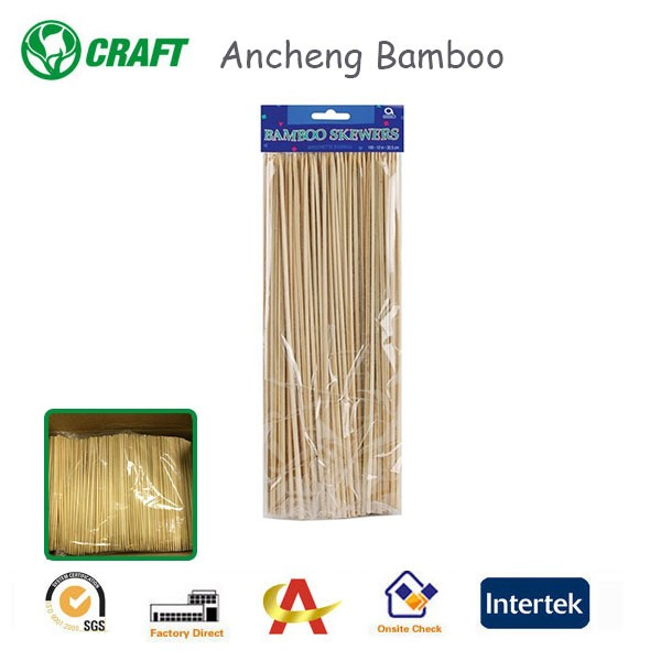 Factory Hot Selling bbq bamboo sticks skewers