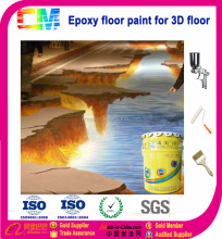 Concrete floor 3d epoxy flooring coating