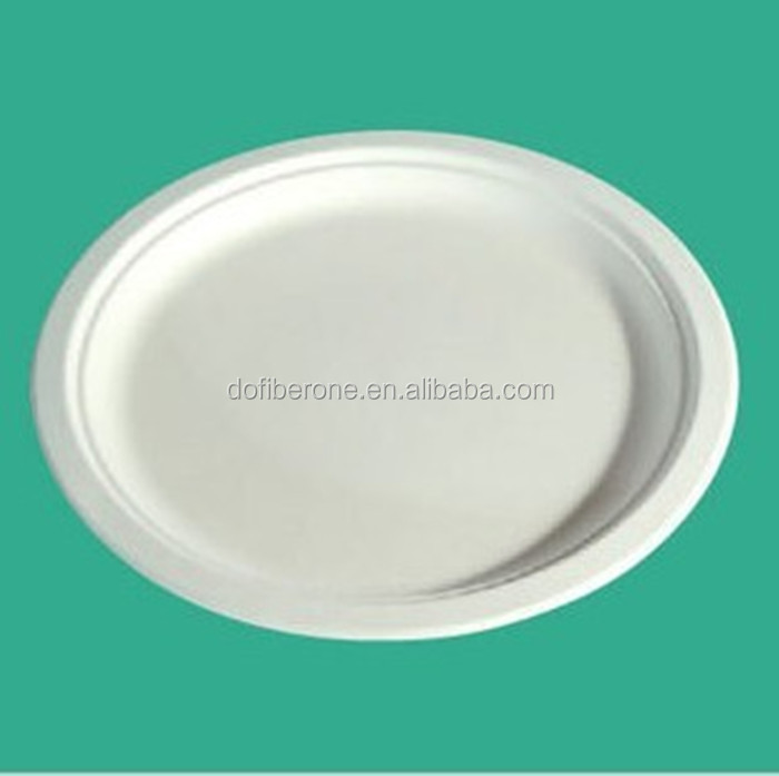 Sugarcane&wheat straw Disposable Compostable plates/ bagasse paper plate