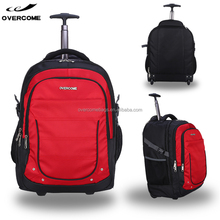 Factory large capacity trolley laptop computer bag wheeled backpack