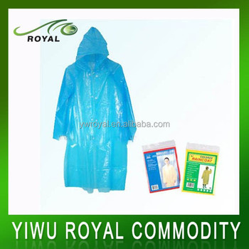 Eco Printed Disposable Raincoat Poncho Militaire