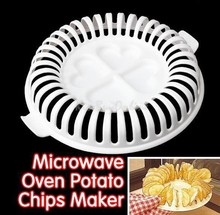 DIY Low Calories Potato Chips Baking Tray Microwave Oven Fat Free Potato Chips Maker Home Baking Tool