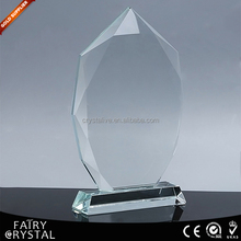 Wholesales blank jade glass crystal trophy F1-G08
