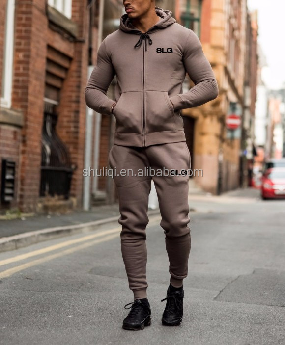 Mens Custom Fitted Skinny Fit 100% Cotton Tracksuits Sets