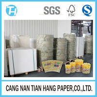 TIAN HANG high quality wood pulp plastic film pe coated paper
