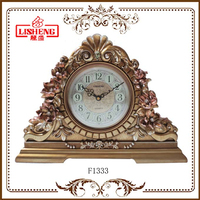 Hot antique time clock bronze for desktop F1333