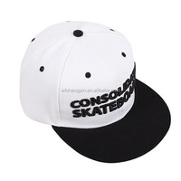 High Quality Custom Two Tone Cheap Snapback Caps/Cheap 3D Embroidery Snapback Cap