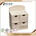BSCI &FSC handmade hinged small cheap wooden drawer box