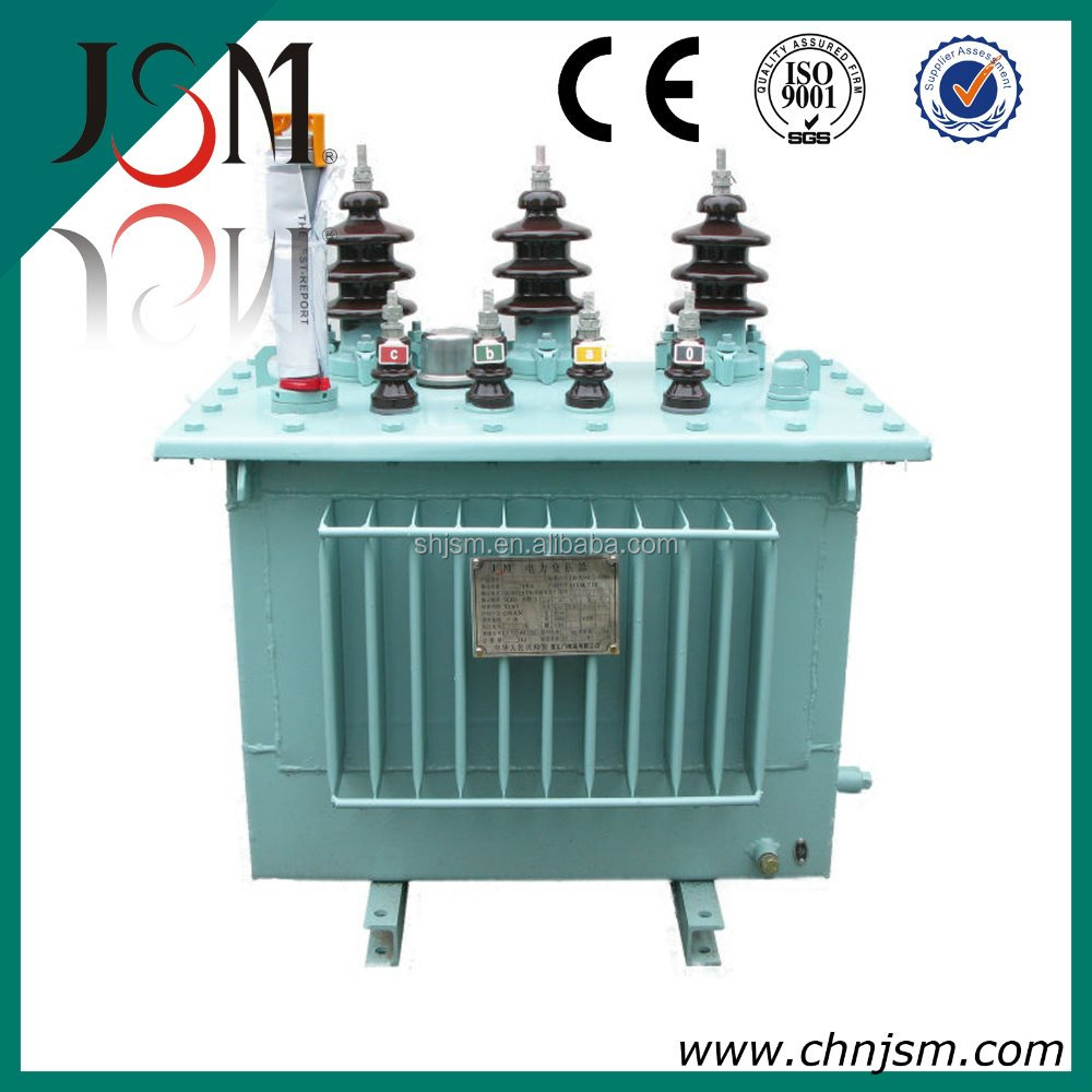 Yueqing Three phrase Power usage oil cooled two coil seal transformer 63KVA 11KV high quality