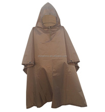 Waterproof nylon military rain coat poncho