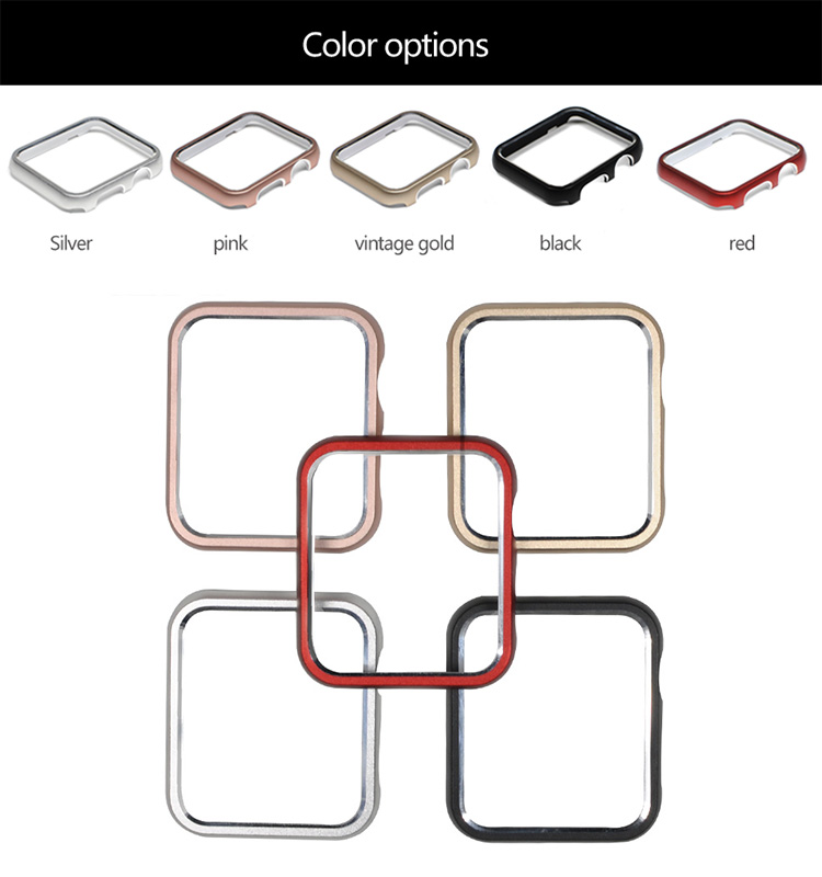 38mm 40mm 42mm 44mm Aluminum Frame Metal Case,Luxury Case For Apple Watch
