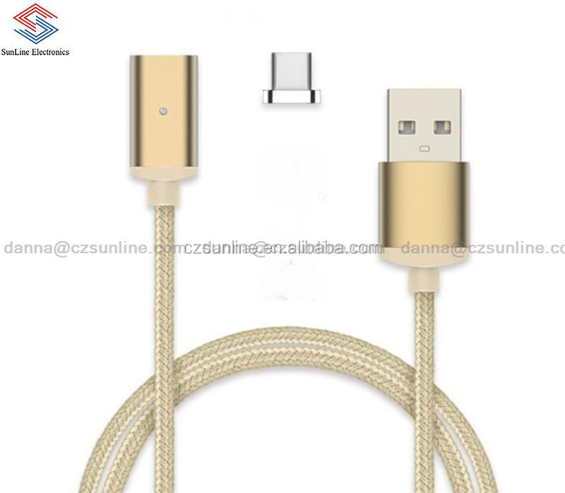 SUNLINE Cheap Price Magnetic Type C Usb Cable Manufacturer For phone and digital products