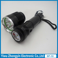 aluminum 3W XPE bulb high power rechargeable uv led flashlight