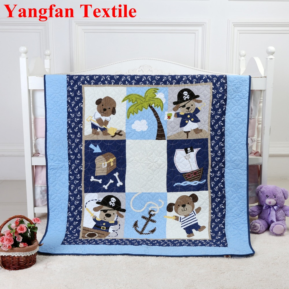 China Supplier Pirate Dog 100% Cotton Quilted Comfort Children Kids Quilt
