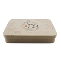 Factory wholesale small rectangular embossed Chinese tea tin box