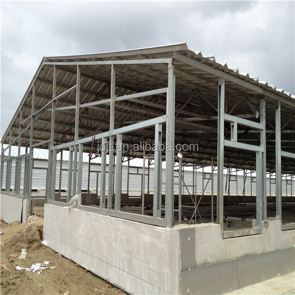 Light steel layer egg chicken cage steel structure poultry for Construction framing cost
