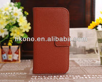 2013 high quality flip pu leather case for samsung galaxy s4 i9500