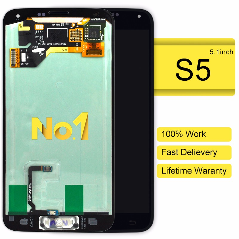 Competitive price lcd for samsung s5 i9600 lcd screen display(with home button)