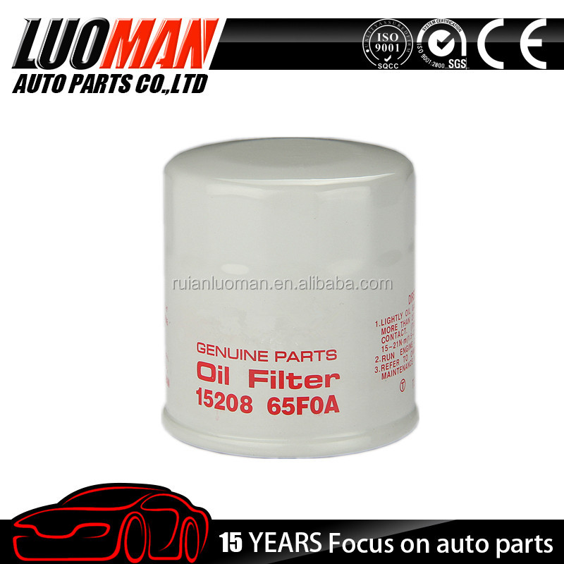 OIL FILTER replacement 15208-65F0A 15208-65F00 15208-31U0B 15208-31U00 Applicable for NISS AN tiida auto engine