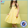 Yihao new fashion sun dress girl linen beach pleated skirt for children girl