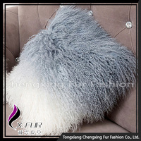 CX-D-59 Fashion Real Mongolian Lamb Fur Sofa Cushion