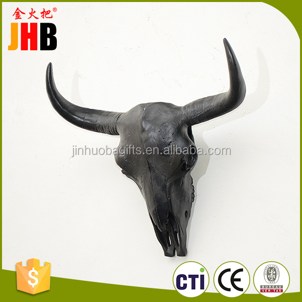 Popular cattle craft home wall mounted polyresin animal head wall decoration