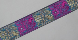 "Jacquard Trim Woven Border Sew Embroidered Ribbon 1.3"" wide"