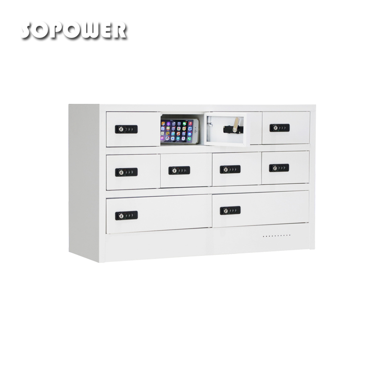 coin operated dollar operated mobile phone station pin pad code fast charging kiosk wall-mounted 10 bay charge cabinet