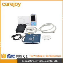 Color LCD Combo ABPM+SpO2 Ambulatory Blood Pressure Monitor+Automatic 24h BP measurement