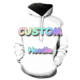 Dropship wholesalers Accept customization high quality sublimation 3D printing your design custom hoodie sweatshirts unisex