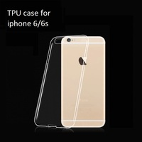 WS wholesale high quality 0.6mm transparent soft tpu case for iphone 6, for iphone 6 tpu case, for iphone 6s tpu case