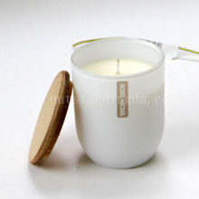 Pillar Candle In Candle Making Raw Materials With Ceramic Candle Tin And Wooden Lids