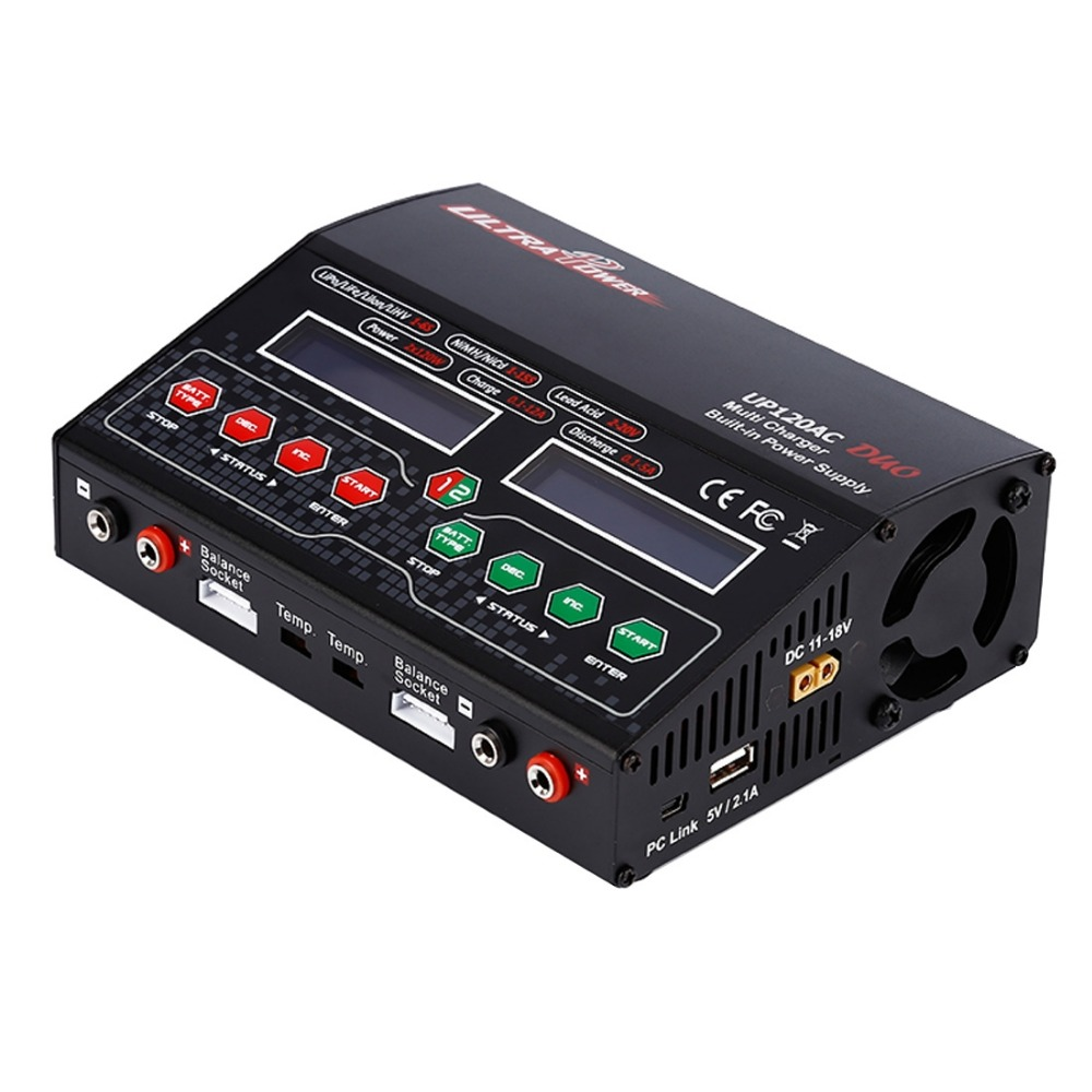 High quality UP120AC DUO LiPo LiIon LiFe NiCd Balancing battery charger with Power Supply