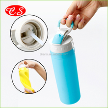 Free sample eco friendly colorful silicone travel bottle outdoor foldable silicone water bottle