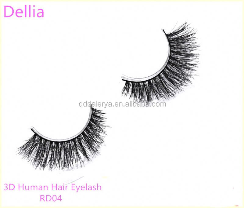 Dellia OEM/ODM Good Shape Handmade False Eyelash Human Hair