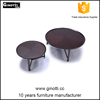 Wooden round table with metal legs